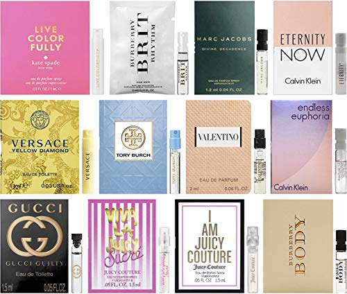 Designer Fragrance Samples for Women - Sampler Lot x 12 Perfume Vials ()