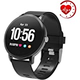 "YoYoFit Edge Smart Watch, Heart Rate Monitor Fitness Tracker Watch with Step Counter Sleep Monitor,1.3"" Color Screen Activity Tracker Pedometer Watch, Great Fitness Gift for Women Men and Elder"