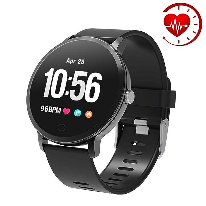 YoYoFit Egde Pulsera de Actividad Inteligente, podómetro con Pulsómetros, Impermeable IP67 Reloj Inteligente para Mujeres, Hombres, niños
