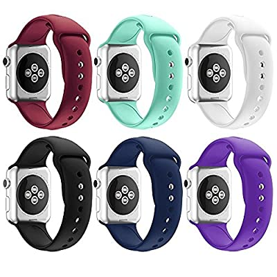Soft Silicone Sport Style Replacement Band Iwatch Strap for Apple Wrist Watch Series 1 Series 2 Series 3