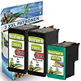 Printer Cartridges Replace HP 350 351XL for HP Photosmart C5280 C4480 C4280 C4200 C4400 C4380 C4340, Hp Deskjet D4260 D4360, Officejet J5785 J5730 J5780 Set of 3