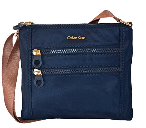 Calvin Klein Nylon Crossbody Bag Handbag Purse Navy Cross Body by Calvin Klein