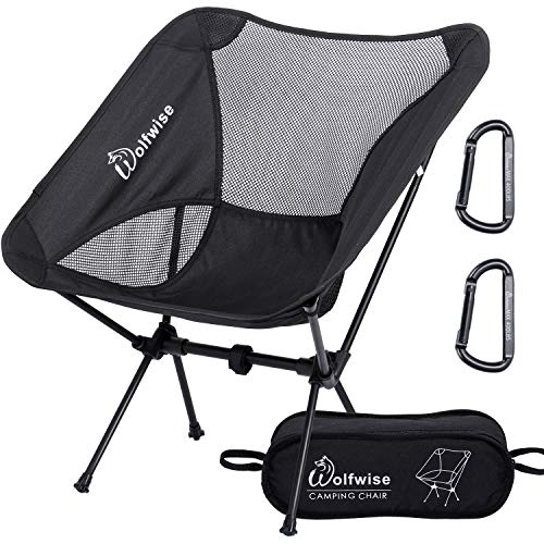 WolfWise Ultralight Portable Camping Chair, Compact Folding