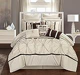 master bedroom bedding  CS2765-AN Ashville 16 Piece Bed in A Bag Comforter Set, Off-White, Queen