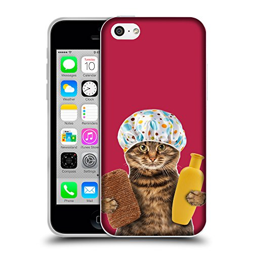 GoGoMobile Coque de Protection TPU Silicone Case pour // Q05610615 Chat bain Maroon brillante // Apple iPhone 5C