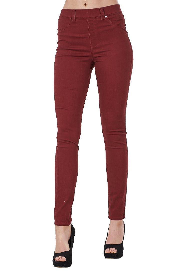 BHS Ladies Pull On Stretch Denim Look Womens Skinny Leggings Cotton Slim Jeggings