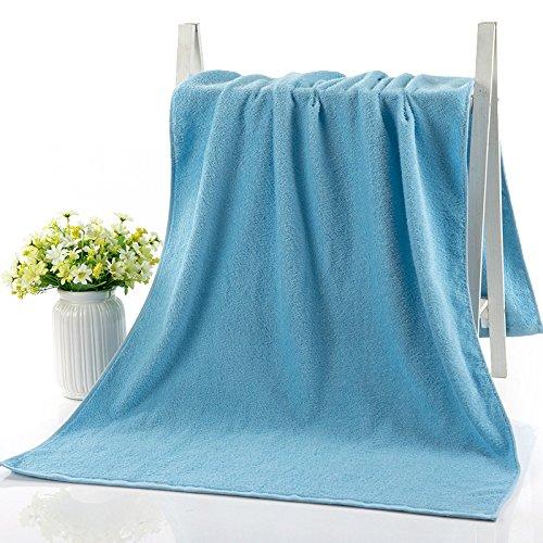 Bath towel cotton bath towels to adult men and women couple absorbent soft single bath towel, dark blue by TDLC