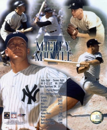 Mickey Mantle New York Yankees 8x10 Photo (Legends of the Game Collage)