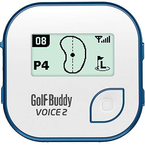 Golf Buddy Bundle Voice 2 Golfbuddy Voice2 Easy-to-Use Talking GPS (Blue) + Silicon Wristband (Black)
