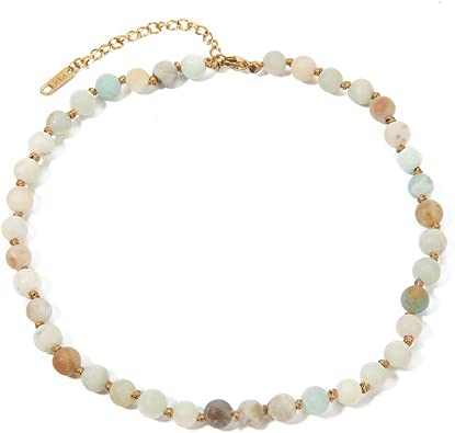 fine stones and gold plated handmadejewellry Precious necklace