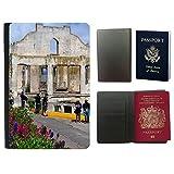 Grand Phone Cases Flip PU Leather Travel Passport Wallet Case with Flight Ticket Slots // M00141287 Alcatraz Bird Island Prison Ocean // Universal passport leather cover offers
