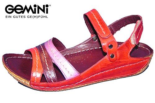 Gemini Damen Sandale Leder Rot 32023