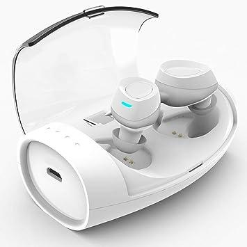 WJP Auriculares inalámbricos inalámbricos del oído de Bluetooth Mini Auriculares Que Funcionan con la Caja de