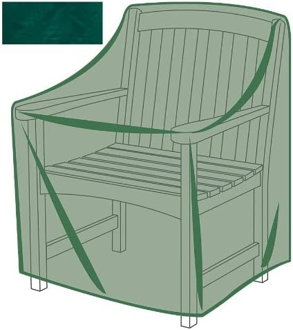 Plow Hearth Outdoor Furniture All-Weather Cover for Armchair 27 L x 26 W x 35 H – Green