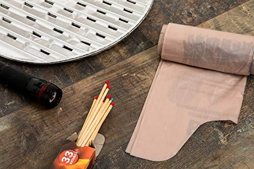 518%2Bm2Nu3tL BranQ - Home essential Unisex-Adult Toilettenbeutel Bio 20 Stück Limited Edition für Campingtoiletten, braun, 22 l
