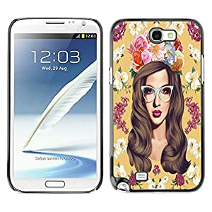 Dragon Case - FOR Samsung Note 2 N7100 - I falling love with you - Caja protectora de pl??stico duro de la cubierta Dise?¡Ào Slim Fit
