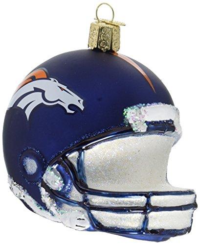 Old World Christmas Denver Broncos Glass Blown Ornaments for Christmas Tree Helmet