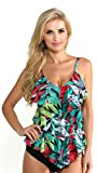 Magicsuit by Miraclesuit Women's Nirvana Rita Tiered Ruffle Tankini Top and High Bottoms 8 Multi
