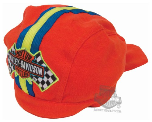 Harley Davidson Racing - Harley-Davidson Boys Baby Trademark B&S Racing Flags Interlock Orange Doo Rag -2-4T