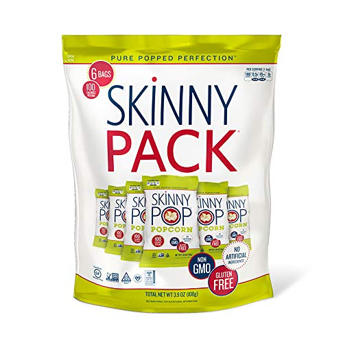 SKINNYPOP Original Popped Popcorn, Skinny Pack, Individual Bags, Gluten Free Popcorn, Non-GMO, No Artificial Ingredients, A Delicious Source of Fiber, 3.9 Ounce (Pack of 10) by SkinnyPop (Image #6)
