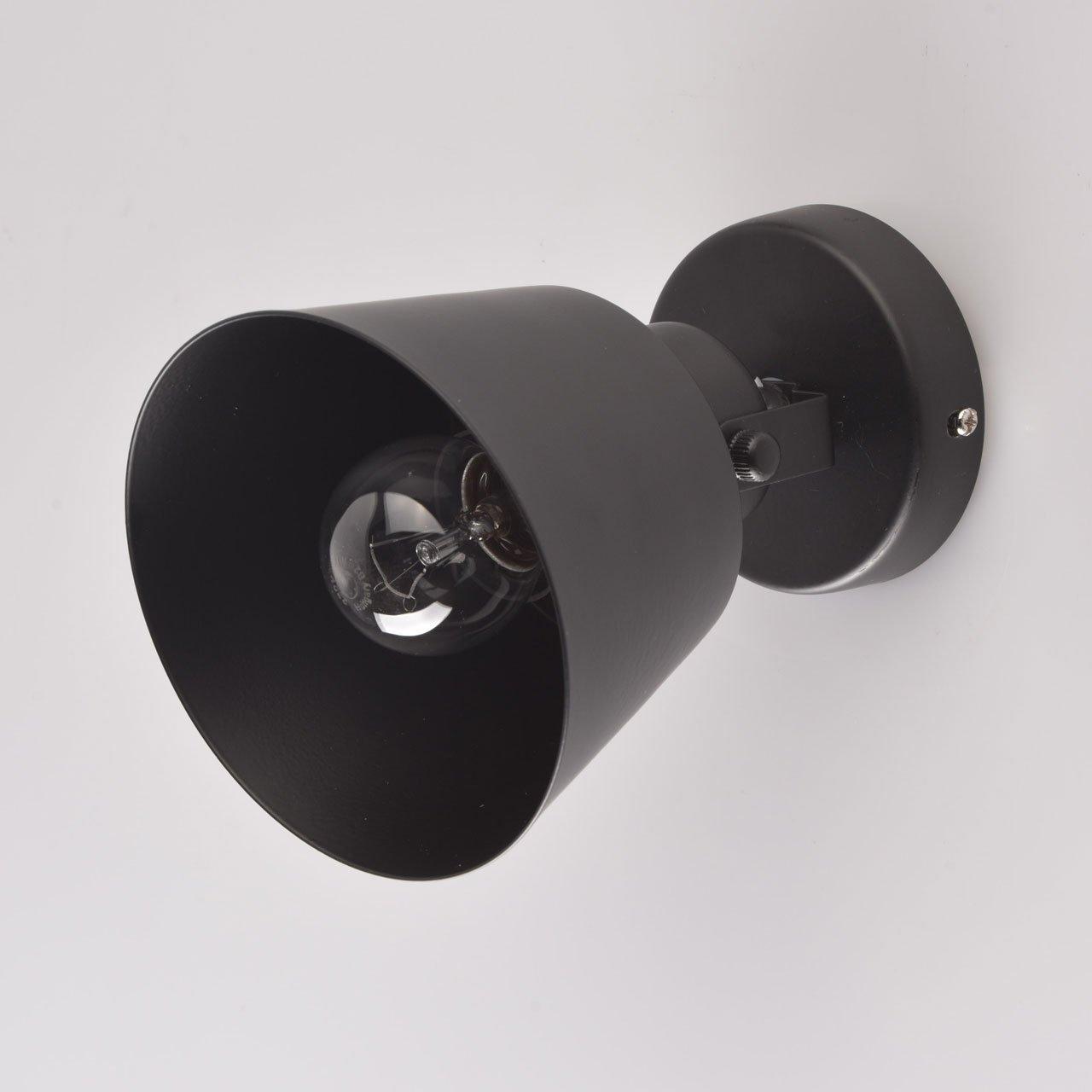 DeMarkt 547021201 Applique Faretto Moderno innovativo Metallo Colore Nero Stile Loft Industriale 1 x 60W E27 Escl