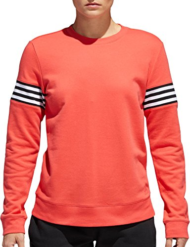 adidas Womens French Terry Changeover Crew Sweatshirt (Real Coral, L)