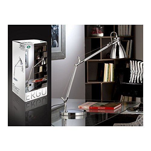 Schuller Spain 395472I4L Modern Chrome Adjustable Table Lamp 1 Light Living Room, bed room, Study, Bedroom LED, Chrome Adjustable neck desk lamp | ideas4lighting by Schuller