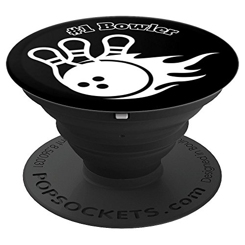 #1 Bowler League Tournament w/ Bowling Ball and Pins - PopSockets Grip and Stand for Phones and Tablets