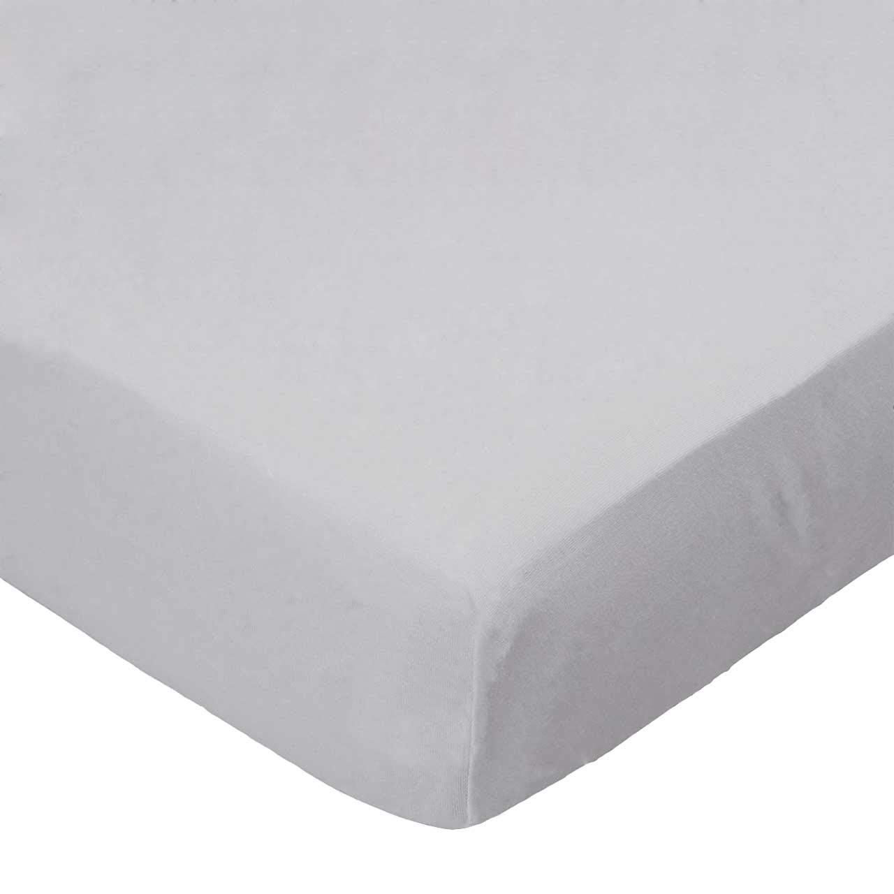 SheetWorld Fitted Pack N Play (Graco) Sheet - Flannel - Silver Grey - Made In USA by sheetworld   B017J0BS7M