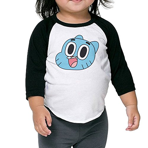 Kid's The Amazing World Of Gumball Toddler Boys Girls 3/4 Sleeve Raglan T Shirt 100% Cotton 4 Toddler]()