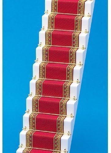 Alfombra Escalera Casa Muñecas Roja Y Dorada Borde Emporio: Amazon.es: Juguetes y juegos