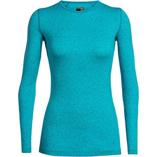 Icebreaker 200 Oasis Longsleeve Crewe Shirt - Sky Paths - Women - Damenshirt