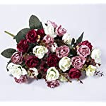 Hibery-2-Pcs-Artificial-Rose-Flowers-Fake-Red-Roses-for-Wedding-Party-Home-Decor