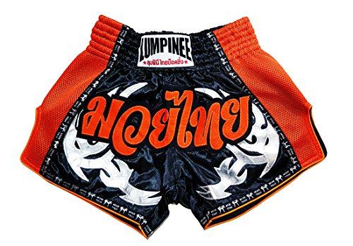 LUMPINEE Retro Original Muay Thai Shorts for Kick Boxing Fight LUMRTO-010 (M, Red Viper)