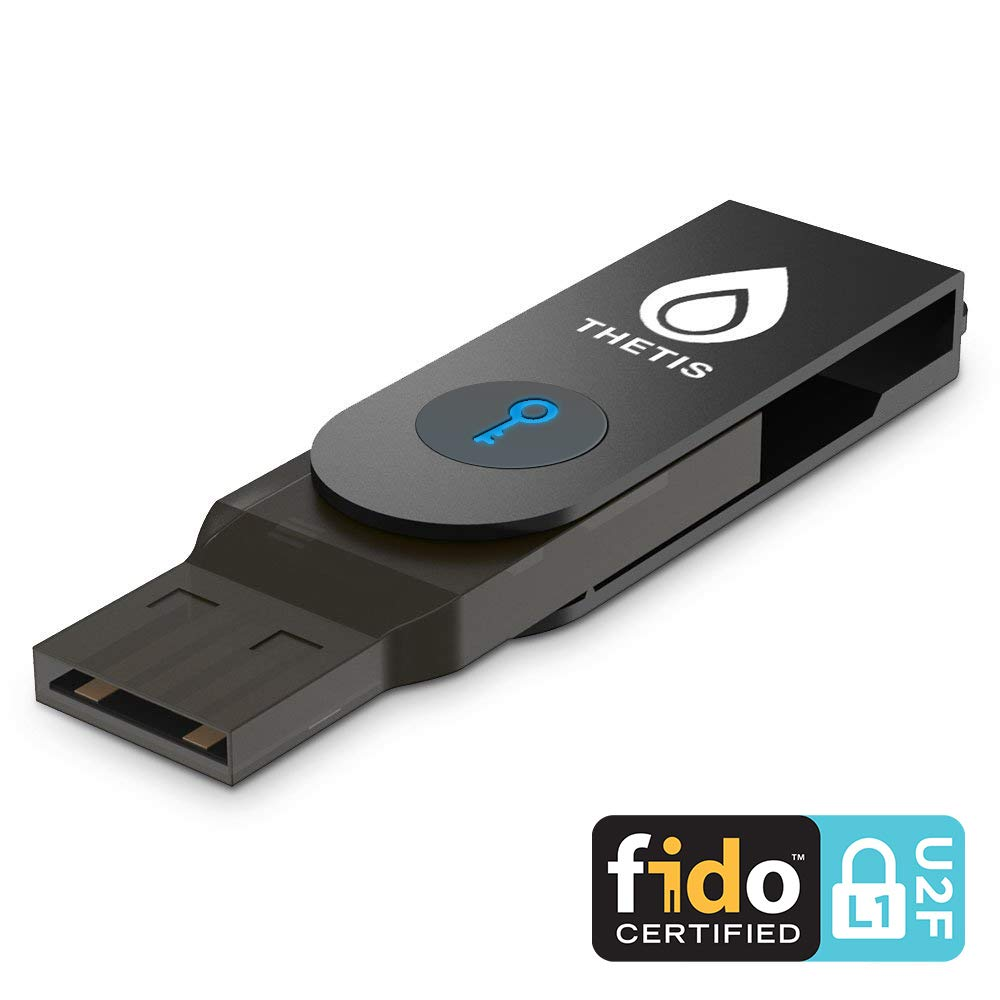 Thetis FIDO U2F Security Key with Bluetooth ENBL, Two-Factor Authentication [Extra Protection] Compatible with Windows/Linux/MacOS, Gmail, Facebook, Dropbox, SaleForce, GitHub and More