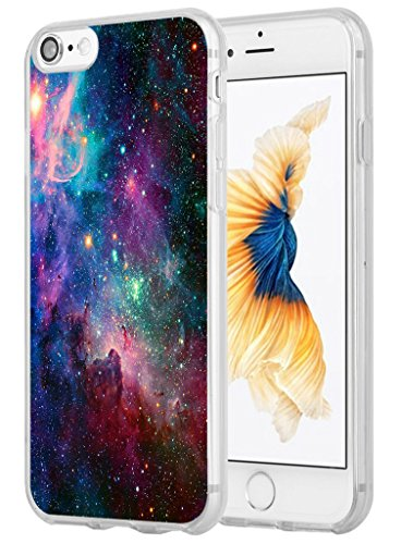 Iphone 8 Case,Iphone 7 Case, Hungo Compatible Iphone 8 Case Iphone 7 Cover Soft Tpu Silicone Protective Shiny Beautiful Space Galaxy (Space Galaxy)