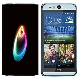 KLONGSHOP // Cubierta de piel con cierre a presión Shell trasero duro de goma Protección Caso - Colores - HTC Desire Eye M910x //
