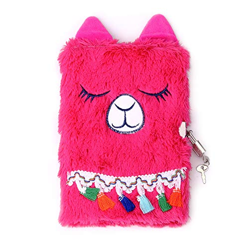 PojoTech Magical Lovely Diary with Lock for Girls (Llama) ()