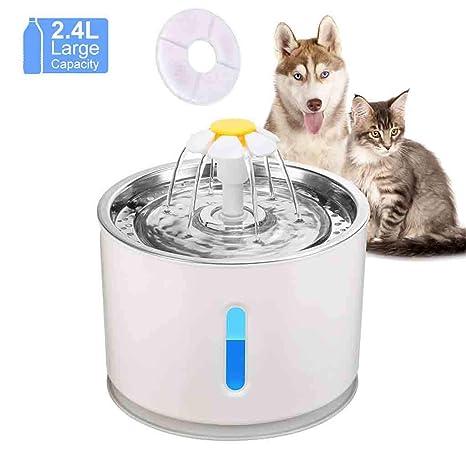 Wwjpet Bebedero Gatos Fuente Silencioso para Mascotas 2.4L ...