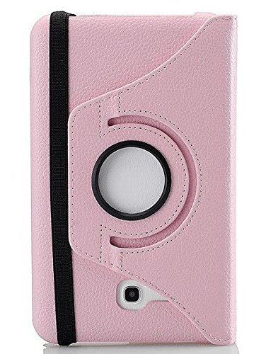 inShang 360 degree Premium PU Leather Case for Samsung Galaxy Tab Tab 2 7-inch (P3100/p3110) with one High class business stylus (For Galaxy Tab2 7.0, Pink)