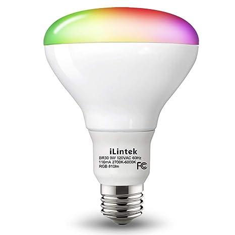 Smart Led Light Bulb Color Changing BR30 Flood Adjustable Multicolor