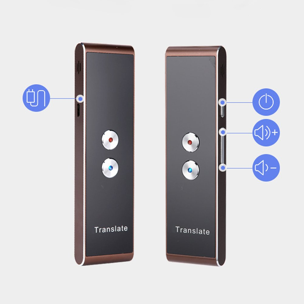 Smart Instant Voice Translator 30+ Languages Speech Interactive Translation for Android/iOS Mobile Phone High Recognition Ability(Black)