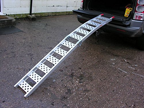 Qtech Motorcycle Motorbike ATV RAMP Folding Motocross with 340kg Loading Capacity