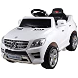 Licensed Mercedes ML350 6V Electric Ride on Kids Car with Remote White Jeep