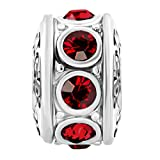 Best Spacers With Red Crystals - Cory Keyes Jan-Dec Crystal Spacer Charms Beads For Review
