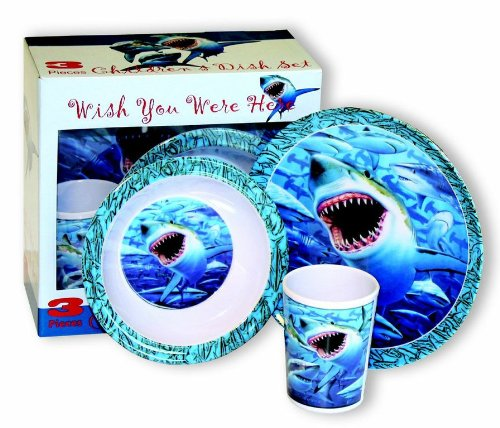Motorhead Products Wish You Were Here' Sharks 3-Piece Children's Dish ()