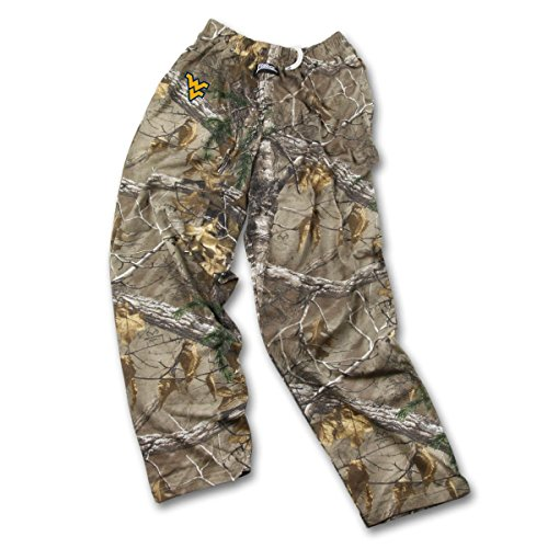 Zubaz NCAA West Virginia Mountaineers Men's Realtree Xtra Print Team Logo Casual Active Pants, XX-Large, (Team Logo Print)