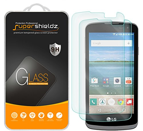 [2-Pack] Supershieldz for LG Rebel LTE Tempered Glass Screen Protector, Anti-Scratch, Anti-Fingerprint, Bubble Free, Lifetime Replacement Warranty