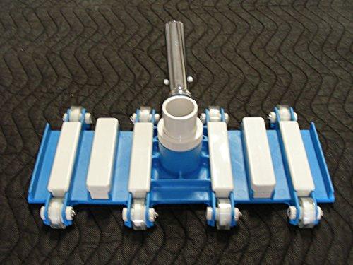Aquatix Pro Pool Vacuum Head Wheels 14 Professional Grade Aluminium Handle Flex Swimming