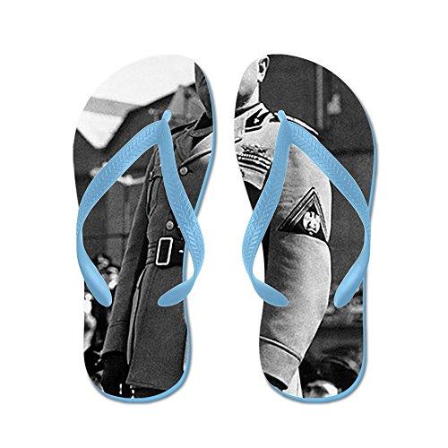 CafePress Benito Mussolini - Flip Flops, Funny Thong Sandals, Beach Sandals Caribbean Blue